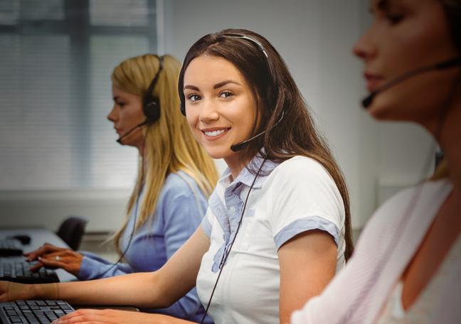 smiling female customer service agent