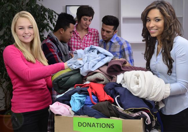 women leading office donation drive