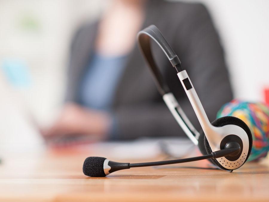 call center headset unused