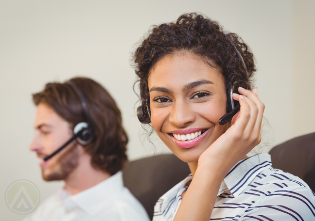 smiling call center agents excited to perfect customer engagement