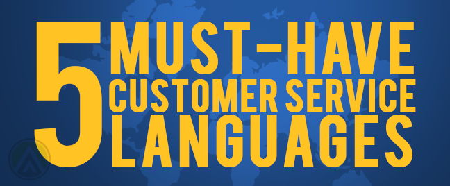 5 Must-have Customer Service Languages infographic header