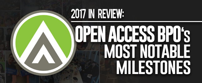 2017 in review: Open Access BPO's most notable milestones