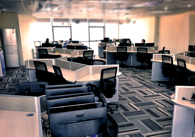 Interior of Open Access BPO Xiamen City office