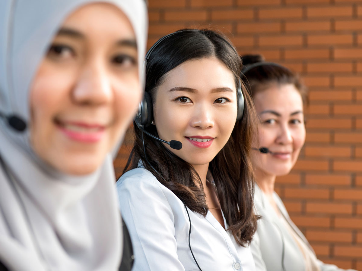 Asian call center agents
