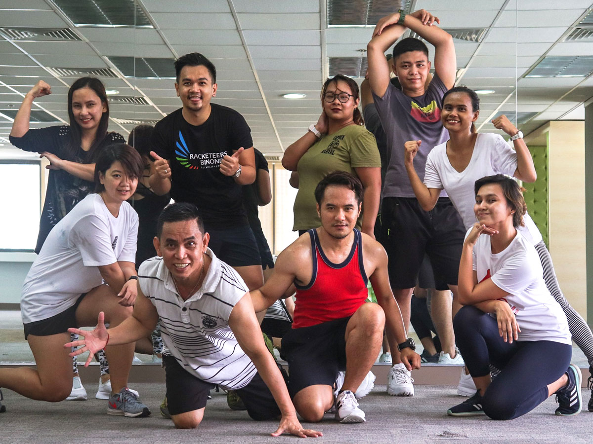 Zumba participants at Open Access BPO