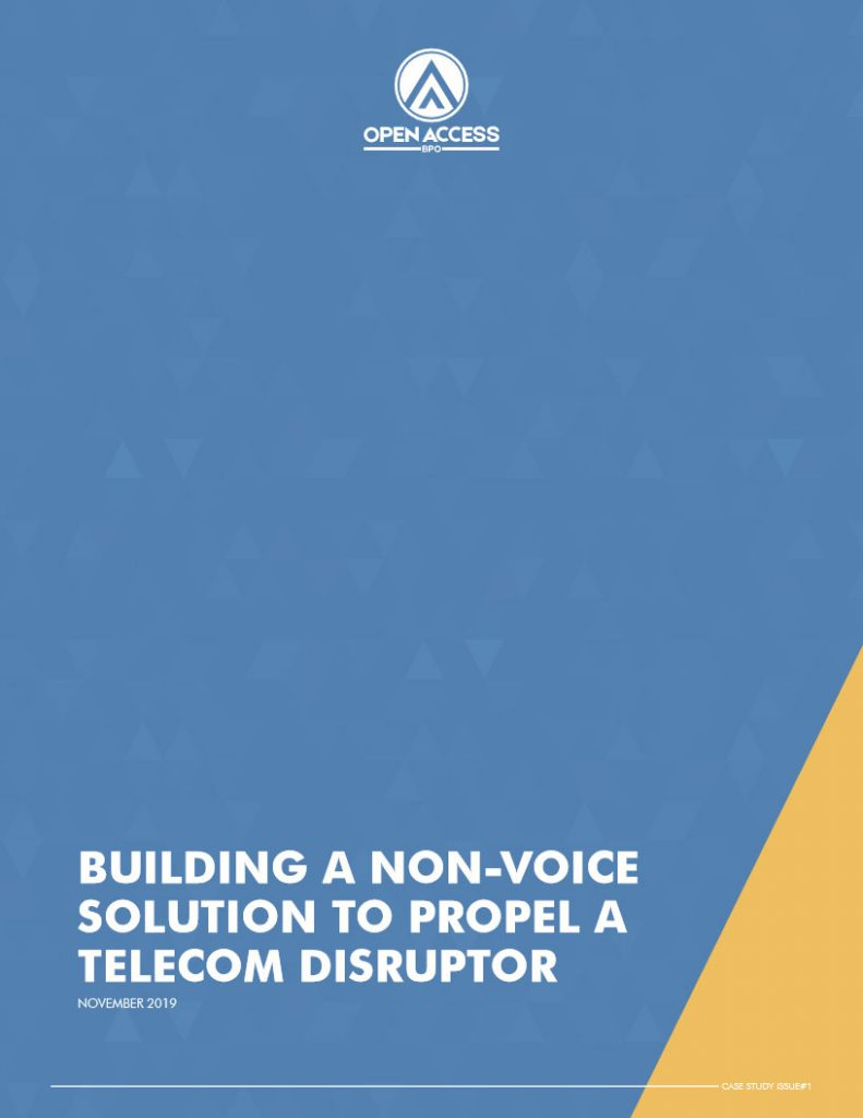 Case Study- Building a non-voice solution to propel a telecom disruptor