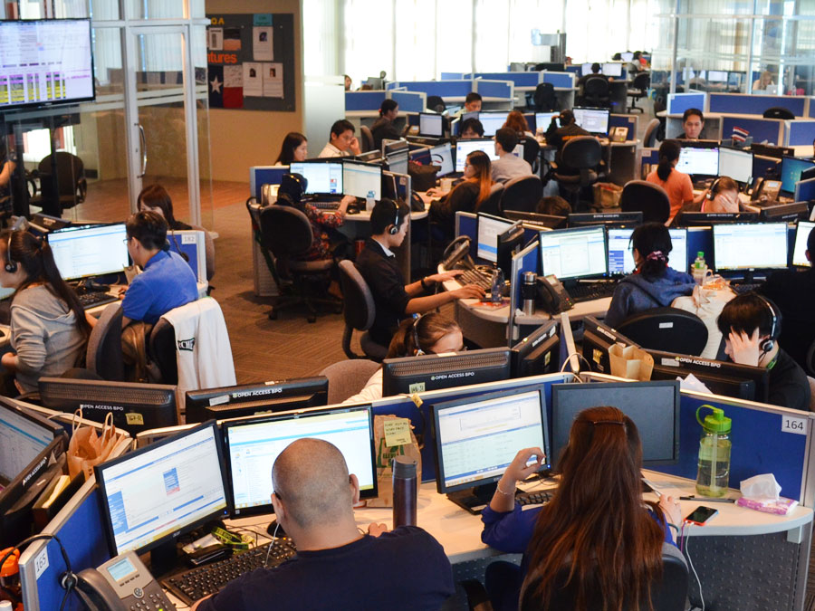 Open Access BPO call center operations floor in Makati