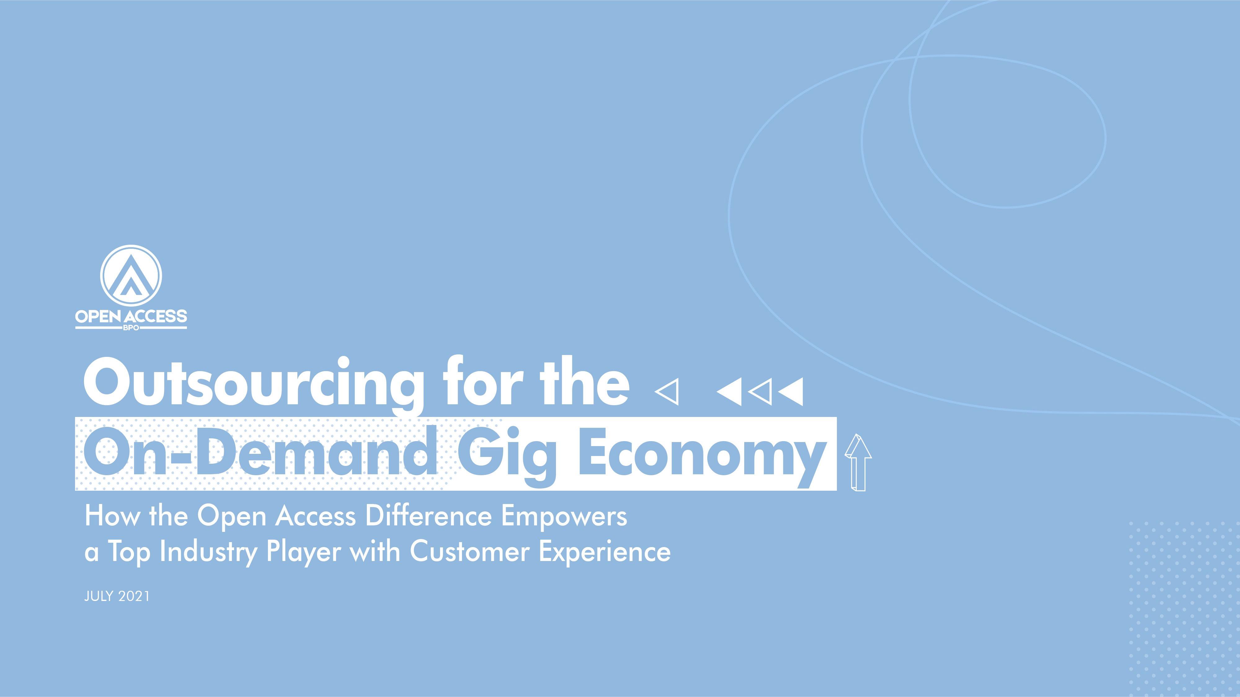 Open Access BPO Gig Economy outsourcing case study
