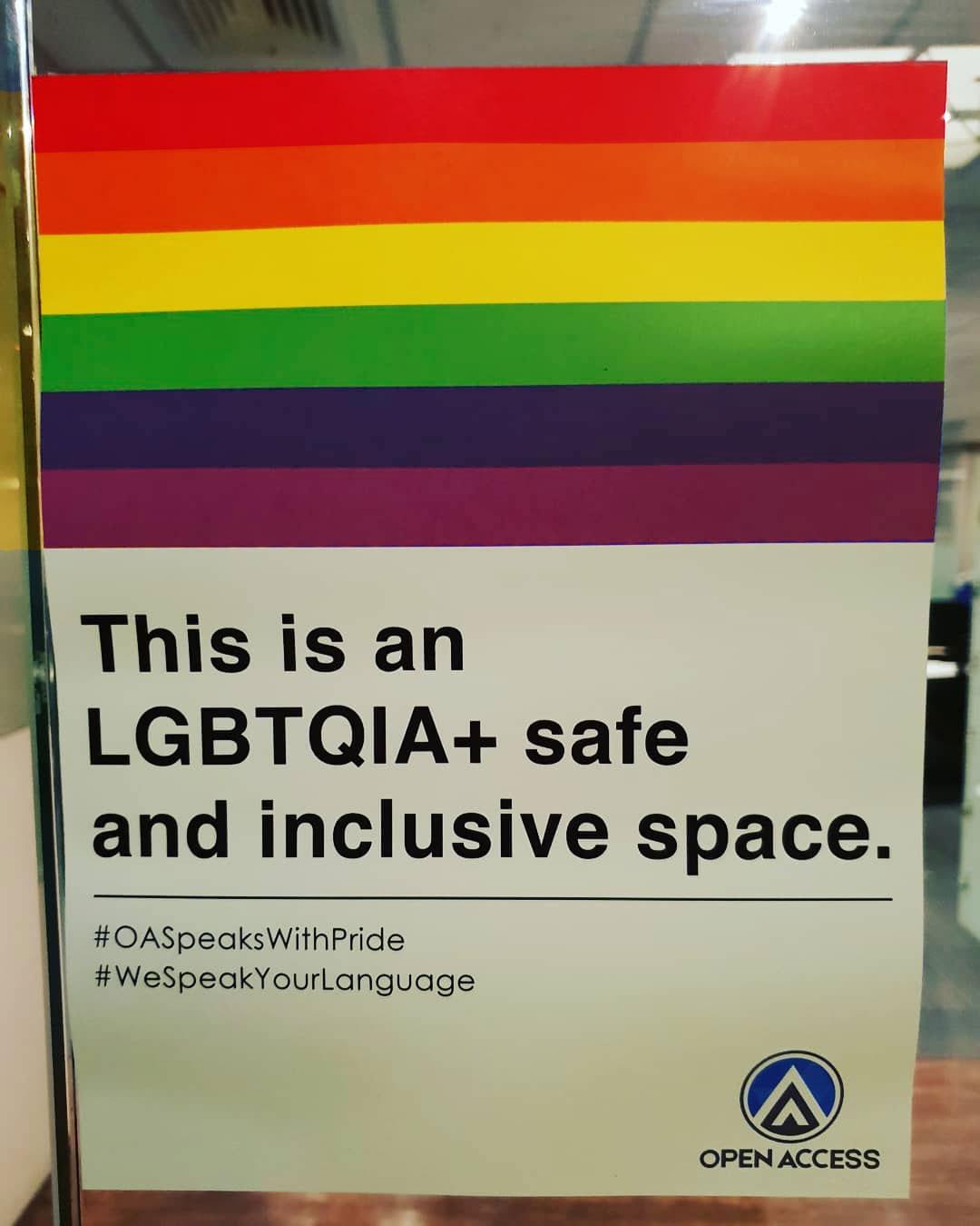 LGBTQ community safe space declaration at Open Access BPO