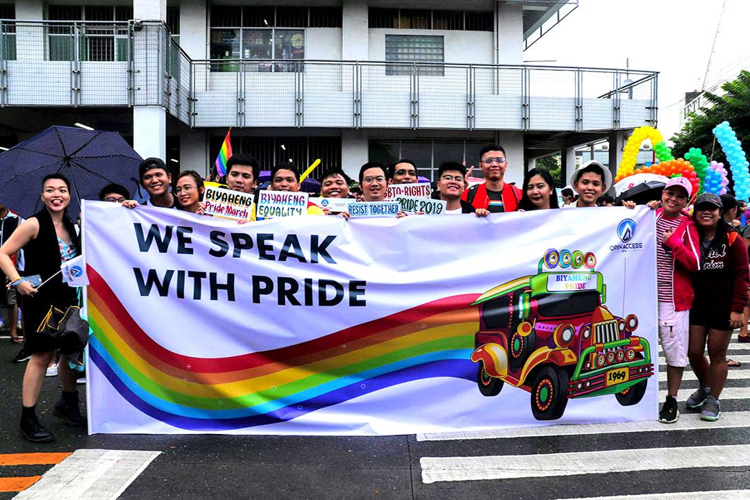 Open Access BPO LGBTQ community during Pride march
